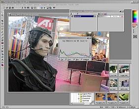 Jasc Paint Shop Pro 6 Arbeitsoberfläche [Foto: MediaNord]