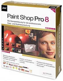 Jasc Paint Shop Pro 8 [Packshot: MediaNord]
