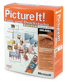 Microsoft Picture It! 2001 [Packshot: MediaNord]