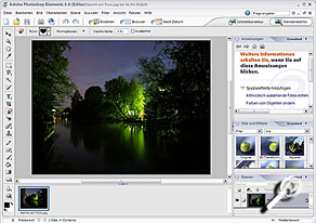 Adobe Photoshop Elements 3 Arbeitsfläche [Screenshot: MediaNord]