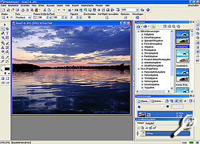 Screenshot Ulead Photoimpact 10 XL [Screenshot: MediaNord]