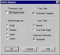 Stitch Optionen von QuickStitch 360