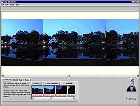 Spin Panorama nachdem Sie die Bilder importiert haben