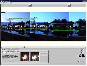 Manuelles zusammensetzen der Bilder unter Spin Panorama