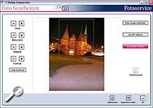 T-Online Fotoservice Software - Ausschnitt wählen [Screenshot: MediaNord]