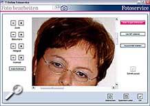 T-Online Fotoservice Software - Rote Augen entfernen [Screenshot: MediaNord]