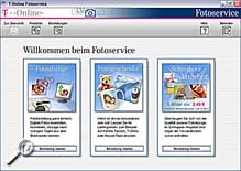 T-Online Fotoservice Software [Screenshot: MediaNord]