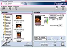 T-Online Fotoservice Software - Warenkorb [Screenshot: MediaNord]
