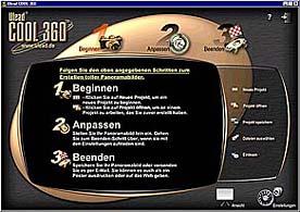 Anfangsbildschirm von Cool360