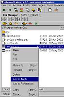 Advanced Explorer - ausführende Datei einbinden [Screenshot: Photoworld]