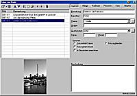 Bilderdatenbank - drei Fotos wurden in einen virtuellen Film verfrachtet [Screenshot: Photoworld]