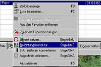 Bilderdatenbank - nachträgliche Bildkorrektur [Screenshot: Photoworld]