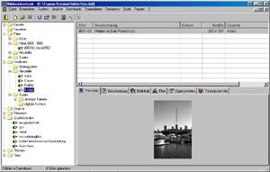 Bilderdatenbank - Arbeitsoberfläche [Screenshot: Photoworld]