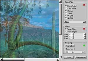 BitmapFix Morphing [Scrteenshot: Photoworld]