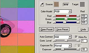 Korrektur nach Referenzfarben [Screenshot: Photoworld]