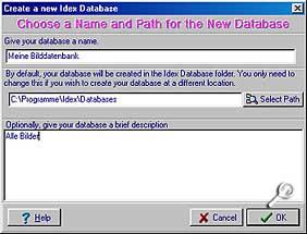 Idex - Datenbank anlegen [Foto: Photoworld]