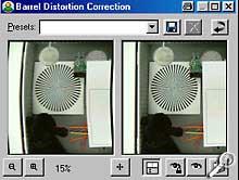 Paint Shop Pro 8 Beta-Version - Objektivverzerrungen ausgleichen [Screenshot: Photoworld]