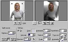 Paint Shop Pro 8 Beta-Version - Effekt Beleuchtung [Screenshot: Photoworld]