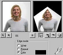 Paint Shop Pro 8 Beta-Version - Effekt Verzerrung [Screenshot: Photoworld]