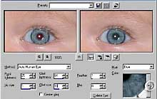 Paint Shop Pro 8 Beta-Version - Rote Augen entfernen [Screenshot: Photoworld]