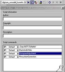 Paint Shop Pro 8 Beta-Version - Befehlsfolgen aufzeichnen [Screenshot: Photoworld]