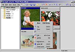 PhoA - Arbeitsoberfläche [Screenshot: Photoworld]