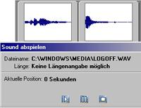 Aquasoft PhotoFlash - Sound abspielen [Screenshot: Photoworld]