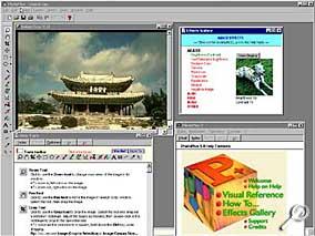 PhotoPlus - Arbeitsoberfläche [Screenshot: Photoworld]