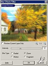 PhotoPlus - Blur Effects [Screenshot: Photoworld]