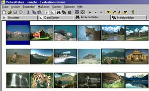 Picture Relate Arbeitsfläche [Screenshot: Photoworld]