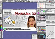 PhotoLine 32- Arbeitsoberfläche [Screenshot: G. Hofmannl]