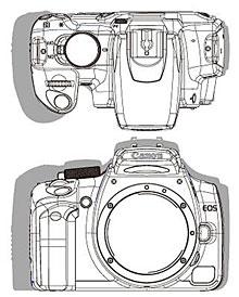 Canon EOS 350D Größenvergleich mit Canon EOS 300D [Foto: MediaNord]