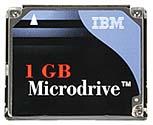 Microdrive-Speicherkarte - Vorderseite [Foto: MediaNord]