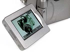 Canon PowerShot Pro90 IS - geschwenkter LCD-Bildschirm [Foto: MediaNord]