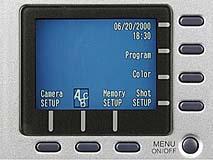 Epson PhotoPC 3000Z Detail Menübedienung [Foto: MediaNord]