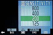 Fujifilm FinePix 4900 Zoom - Menü Empfindlichkeit [Foto: MediaNord]