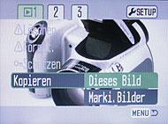 Konica Minolta Dimage Z3 - Menü [Foto: MediaNord]