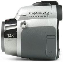 Konica Minolta Dimage Z3 - linke Kameraseite [Foto: MediaNord]