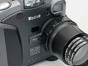 Kodak DC265 Detail Vorsatzlinsenadapter mit Hama-Nahlinsen