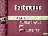 "Kodak DC4800 Detail Menüführung ""Farbmodus"" [Foto: MediaNord]"