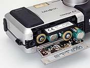 Minolta Dimâge EX, Detail Batteriefach [Foto: MediaNord]