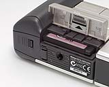 Nikon Coolpix 900 Detail CompactFlash-Steckplatz [Foto: MediaNord]