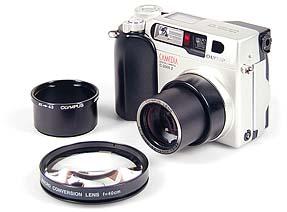 Olympus C-2000 Zoom mit CLA-1 und MCON-40 (ohne MCON-Adapterring)