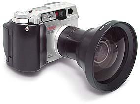 Olympus C-2000 Zoom mit CLA-1 und WCON-08
