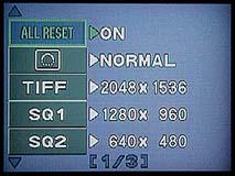 """Olympus C-3000 Zoom Detail Menüführung """"Drive"""" [Foto: MediaNord]"""