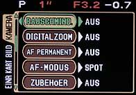 Olympus C-5050 Wide Zoom - Menü 2 [Foto: MediaNord]