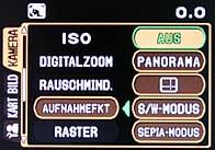 Olympus C-8080 Wide Zoom - Menü 3 [Foto: MediaNord]