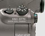 Sony DSC-D770 Detail Typenschild [Foto: MediaNord]