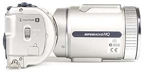 Sony DSC-F505V rechte Kameraseite [Foto: MediaNord]