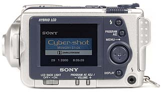 Sony DSC-F505V Rückseite [Foto: MediaNord]